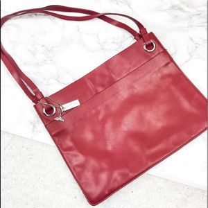 😄 Coldwater Creek Genuine Red Leather Purse
